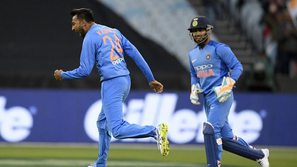 India vs Australia: Krunal Pandya castles Glenn Maxwell, his