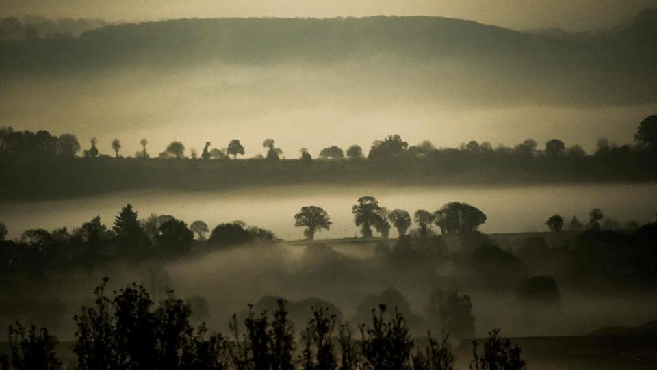 Thick fog in the Avranches countryside, northern France. (Philippe Huguen / AFP)