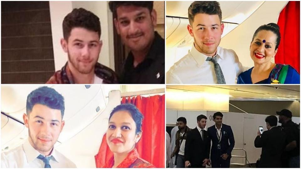 Priyanka Chopra's fiance Nick Jonas is all smiles as he clicks pics with his Indian fans,