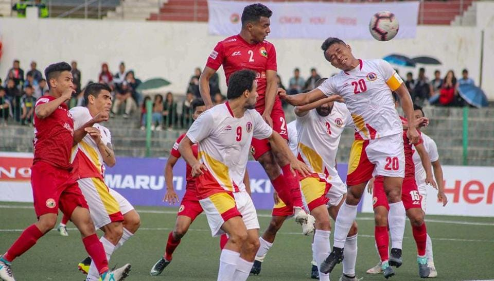 File picture of players from East Bengal FC (in white jersey)