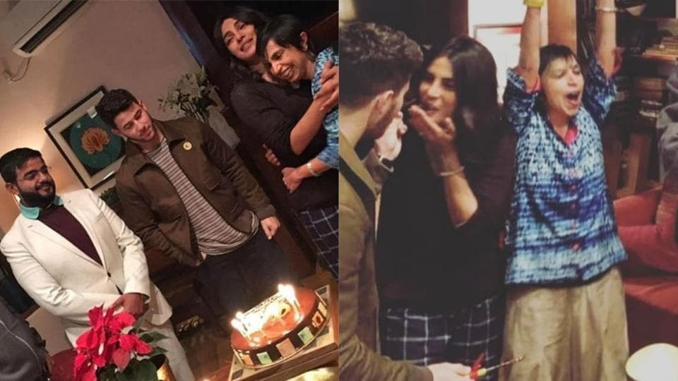 Priyanka Chopra Nick Jonas Party Together On The Sky Is Pink Sets