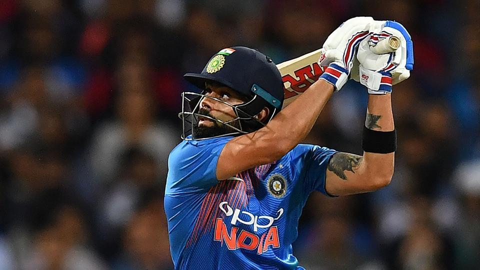 India's batsman Virat Kohli plays a shot during a T20 international cricket match against Australia at the SCG