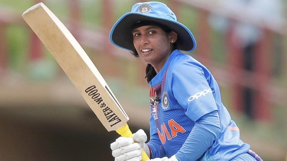 Mithali Raj plays a shot during Women's World T20 cricket match against Ireland.