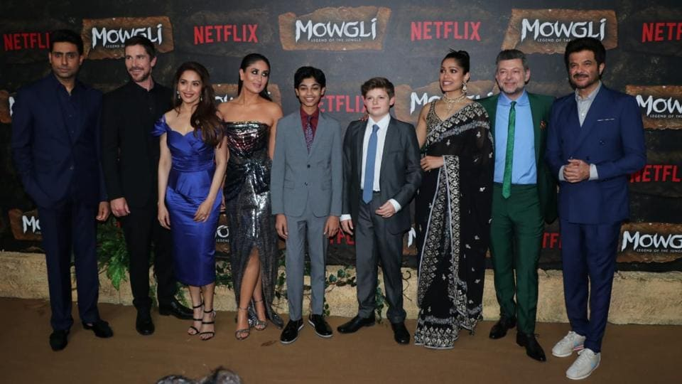 Kareena Kapoor Anil Kapoor Meet Batman Christian Bale At Mowgli