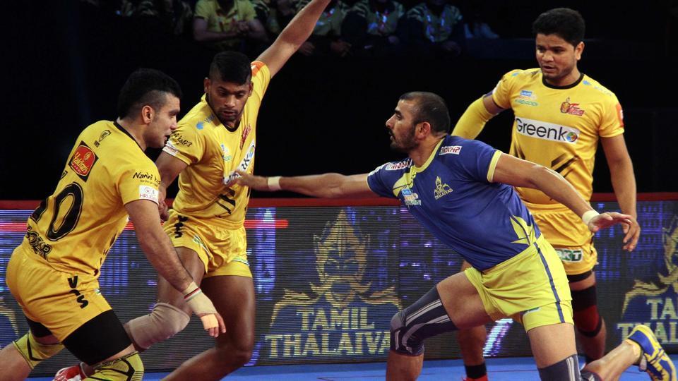 Pro Kabaddi League 2018,Tamil Thalaivas,Telugu Titans