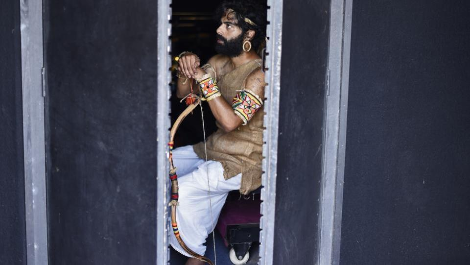 "Curtains open on a congested neighbourhood in Bareilly. A mother is having a serious conversation with her son. She asks him if he has consulted the clerics before playing Lord Ram in the Ramleela, scheduled after 10 days. ""It is just a role, ammi"" says 28-year-old Danish Khan pictured), actor and production designer with the theatre group Rang Vinayak Rangmandal (RVRM). (Burhaan Kinu / HT Photo)"