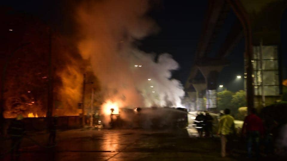 Wadala,Fire in waldala,Mumbai's wadala