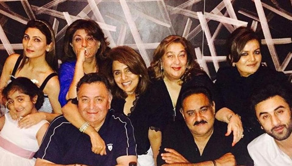 Riddhima Kapoor with her family. She was accused of ripping off Kokichi Mikimoto's design.