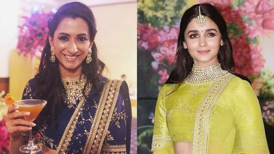 Deepika Padukone's sister Anisha and Alia Bhatt rocked the same Sabyasachi lehenga in different colours. (Instagram)