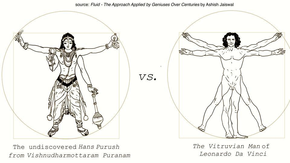The idea of the Vitruvian Man was not originally Leonardo da Vinci's.