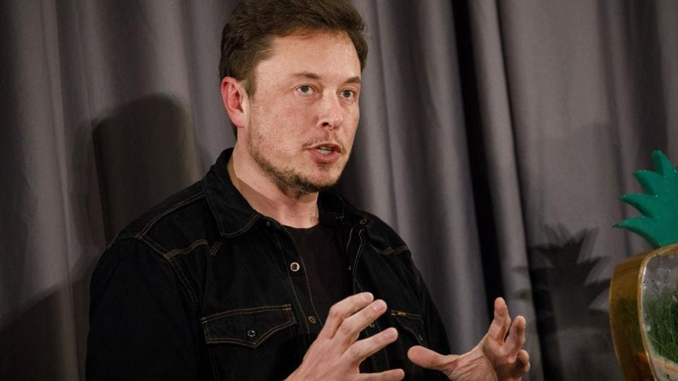 Elon Musk, co-founder of Tesla Inc., speaks during a Boring Co. event in Los Angeles, California, US.