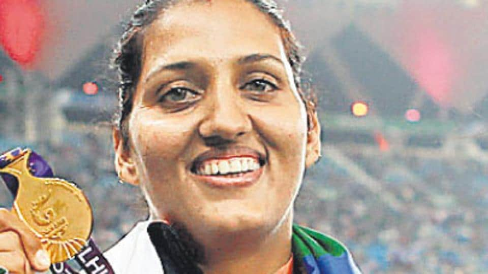 Commonwealth Games gold medalist Krishna-Poonia is contesting the Rajasthan Assembly election on a Congress ticket.