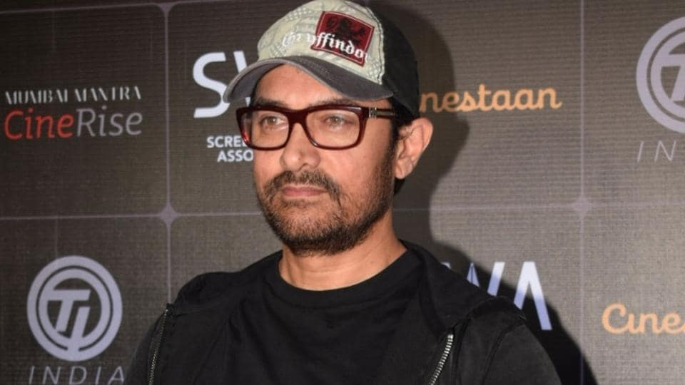 Actor Aamir Khan at the award ceremony of Cinestaan India's Storytellers Contest in Mumbai.