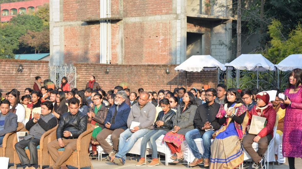 A  poetry-reading event in Delhi. Poetry stalls time, makes you stop and go back.
