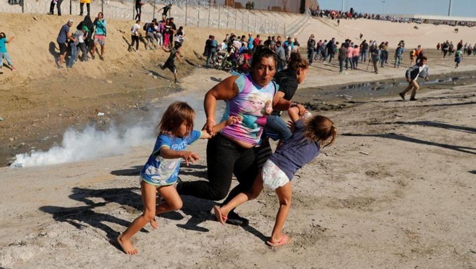 Tear Gas,Donald Trump,border clash