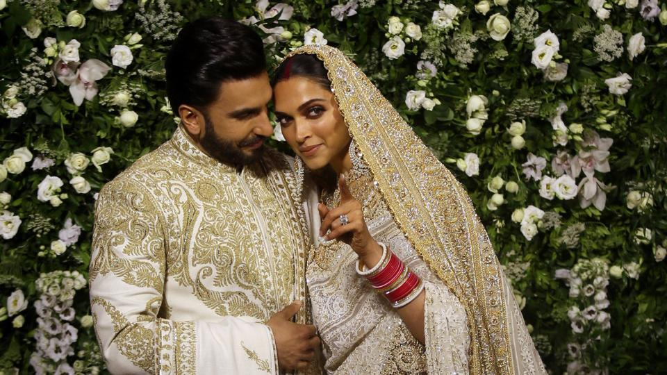 Image result for Ranveer Singh and Deepika Padukone at their reception