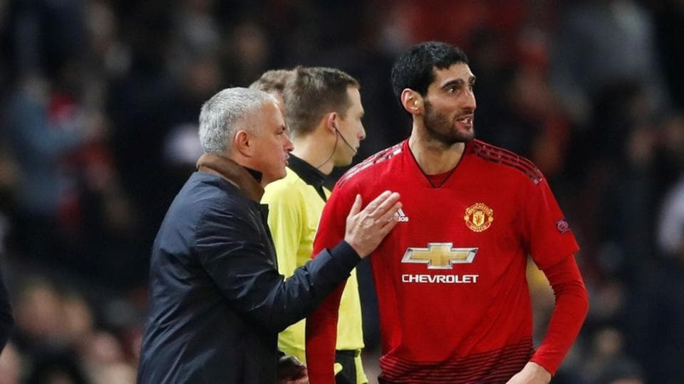 Marouane Fellaini,jose mourinho,manchester united