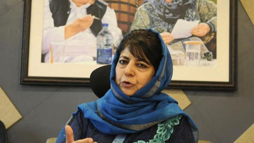 Former chief minister of Jammu and Kashmir and PDP chief Mehbooba Mufti today demanded that India and Pakistan open up pilgrimage to Sharda Peeth in Pakistan-occupied Kashmir for Kashmiri Pandits (File Photo)