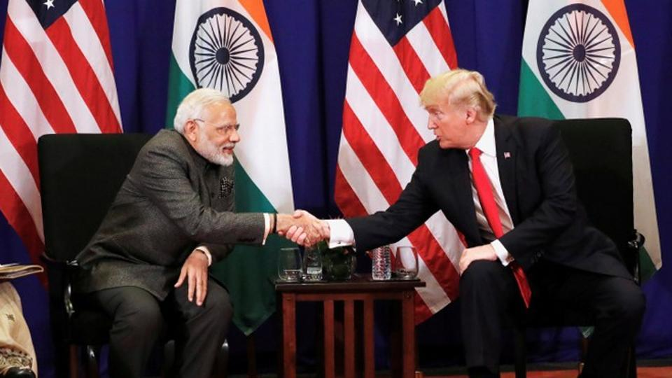 U.S. President Donald Trump shakes hands with India's Prime Minister Narendra Modi during a bilateral meeting alongside the ASEAN Summit in Manila, Philippines.