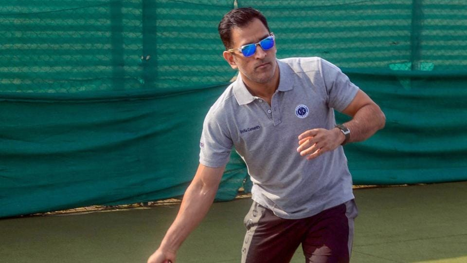 Image result for dhoni plays tennis