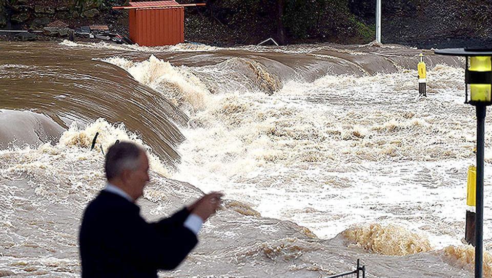 Australia storms,Sydney streets rivers,Sydney flood