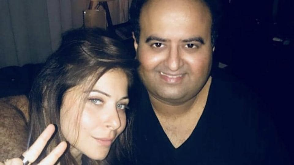 Rishi Acharya with singer Kanika Kapoor