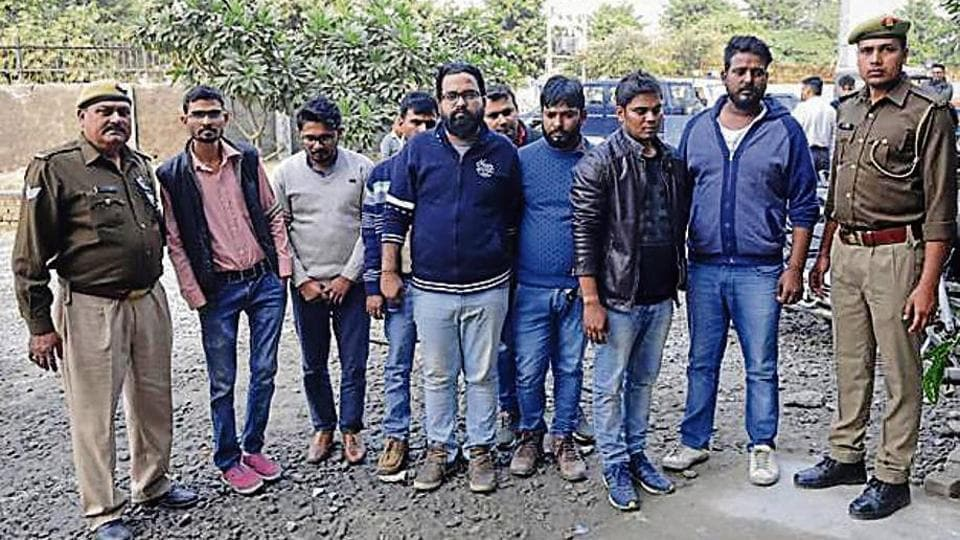 Eight persons were arrested from Sec 63 for targeting unemployed youth in the guise of providing them consultancy.