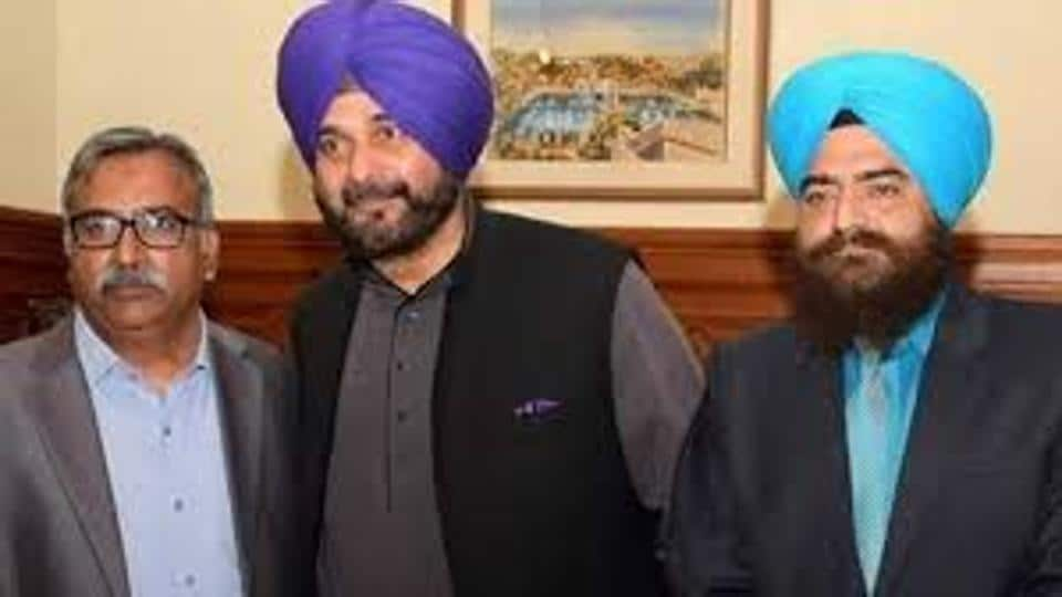 "Gopal Singh Chawla (right) had put out the picture with Navjot Sidhu on Facebook with a caption, ""with sedu pa g"" (With my brother) on Wednesday evening."