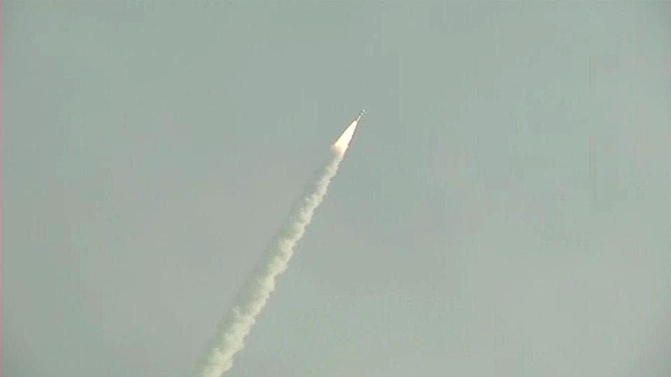 The 31 satellites were launched at 09:58 am in two different orbits by India's Polar Satellite Launch Vehicle (PSLV C43) in its 45th flight.