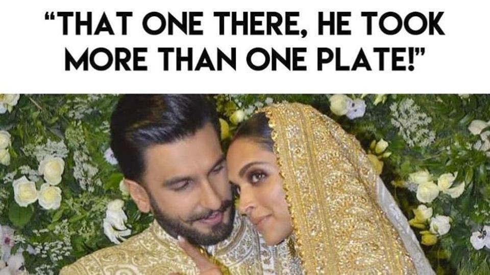 Deepika Padukone, Ranveer Singh's wedding reception memes are as hilarious as you'd hope. (Instagram)