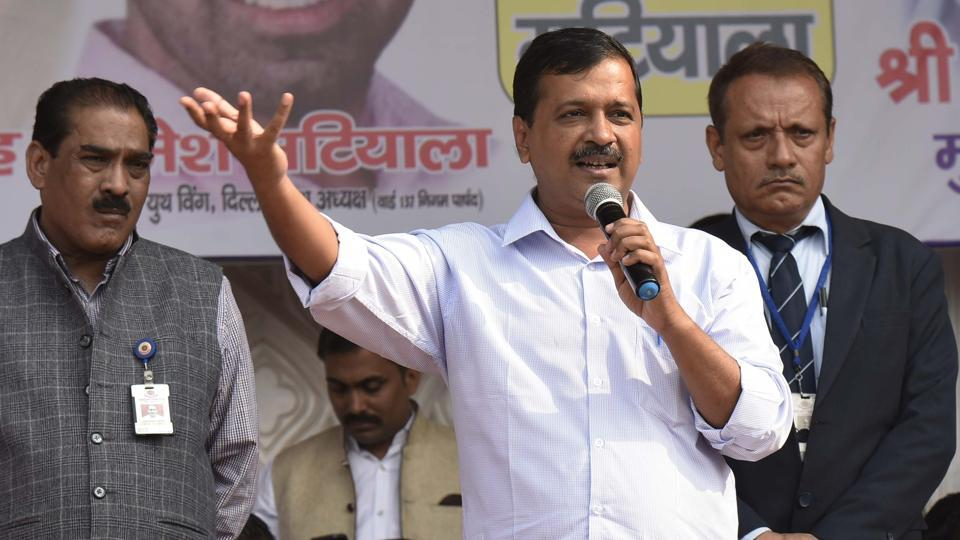 Delhi chief minister Arvind Kejriwal along with senior leaders of Aam Aadmi Party addressed a gathering in west Delhi on Wednesday, November 28, 2018.
