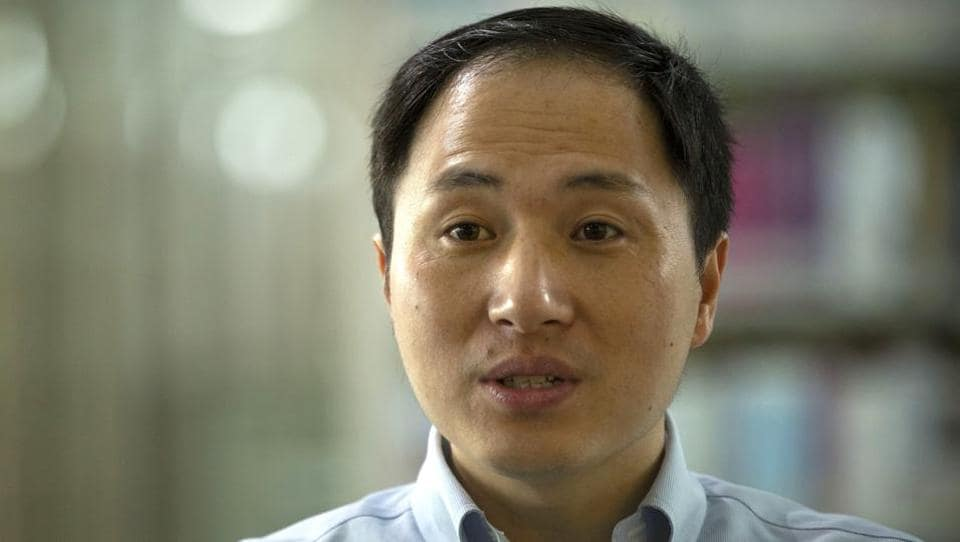 Scientist He Jiankui speaks during an interview in Shenzhen in southern China's Guandong province.