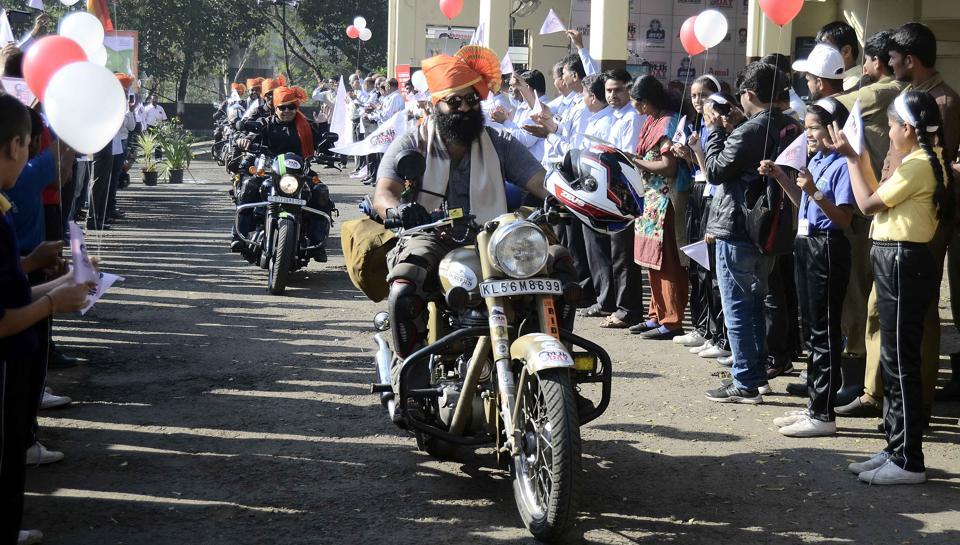 A motorcycle rally from Kozikode, Kerala to Anand, Gujrat in celebratration of the birth anniversary of Dr Verghese Kurien, November 24, 2017