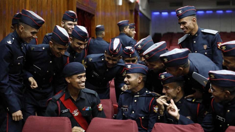 It is heartening to know that this iconic institution has produced more than 36,000 officers who are still serving or have served the nation with dedication, commitment and sincerity and many have made a name for themselves in military affairs and earned glory for the nation in other fields as well, said Qamar. (RAHUL RAUT/HT PHOTO)