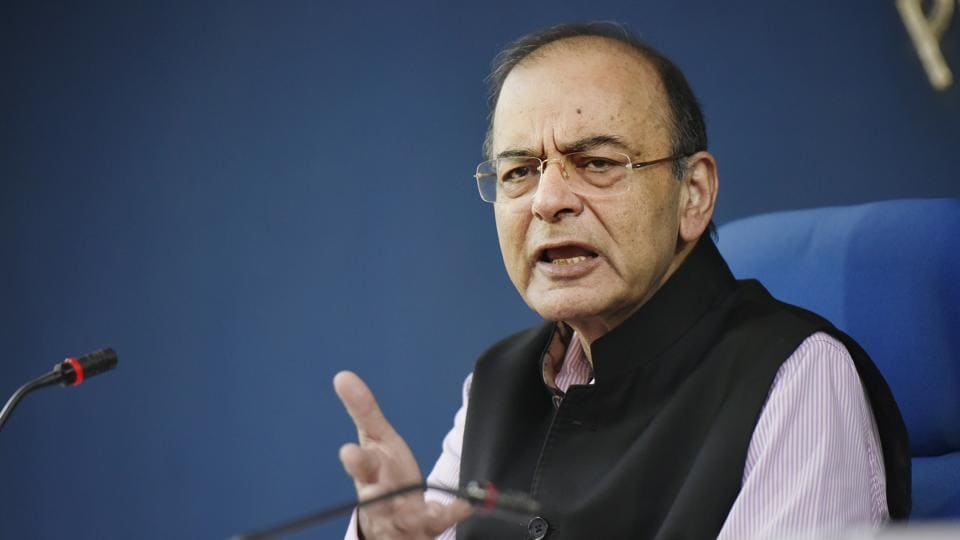 New Delhi, India- November 22, 2018: Union finance minister Arun Jaitley addresses a cabinet briefing at Conference Hall, Shastri Bhawan in New Delhi, India on Thursday, November 22, 2018. (Vipin Kumar / Hindustan Times)