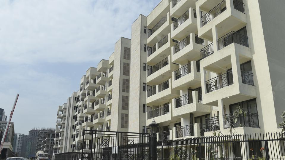 A view of NBCC flats made for government servants at NBCC office, East Kidwai Nagar in New Delhi.