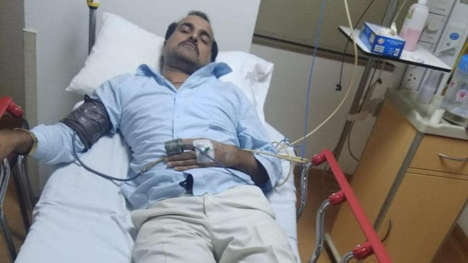 Taj Mohammad, leader of D13 gang who was shot in his left leg, is recuperating in the district hospital.