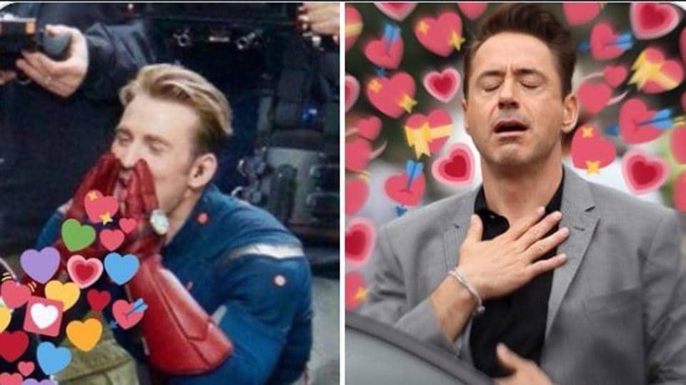 Chris Evans is showering Robert Downey Jr with love again.