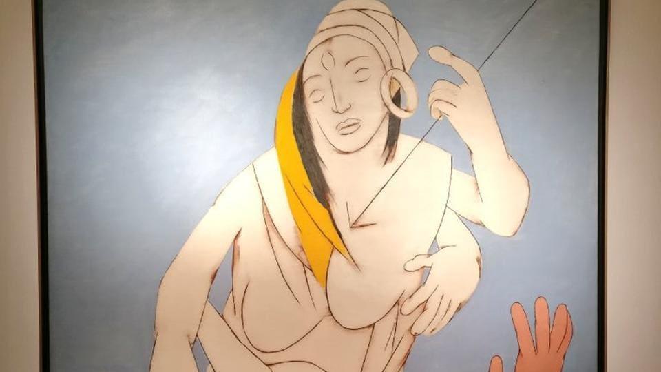 Tyed Mehta,Durga Mahisasura Mardini,The Little Girl in Blue