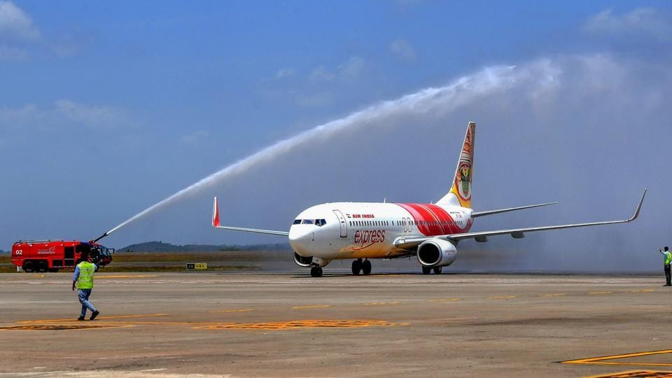Image result for Kerala's new airport opens, first flight takes off to Abu Dhabi