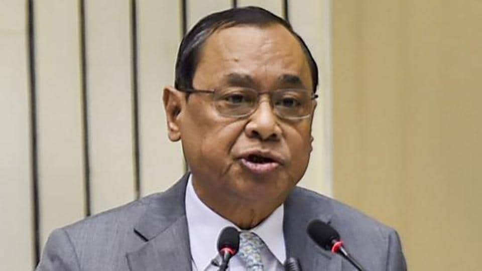 Chief Justice of India Ranjan Gogoi addresses the inaugural function of Constitution Day celebrations, New Delhi, November 26