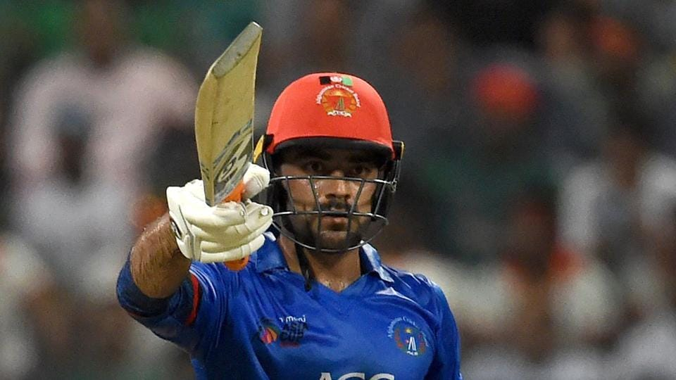 File image of Afghanistan cricketer Rashid Khan in action during a match.