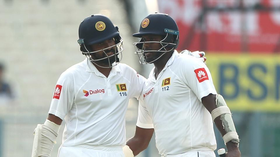 File image of Lahiru Thirimanne (L) in action during a match.