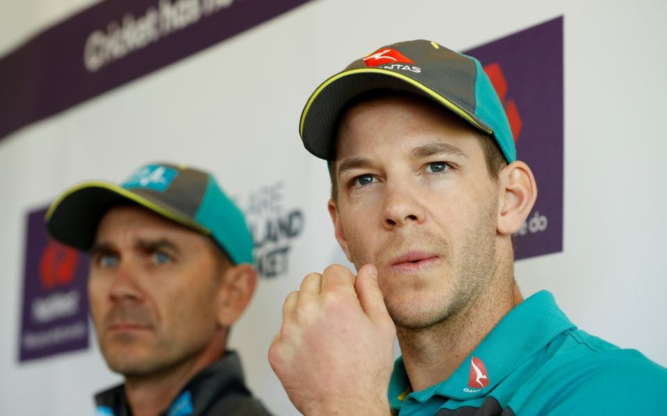 File picture of Justin Langer, Tim Paine