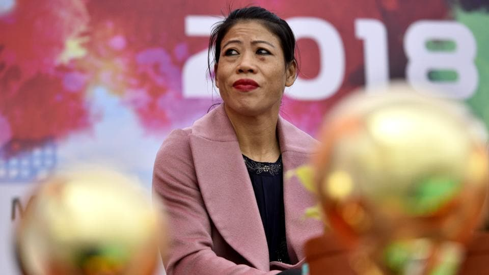 Indian Olympic Boxer Mary Kom during the inauguration of the second Inter-Child Care Institutional Festival 'Hausla - 2018' organized by Ministry of Women and Child Development at Jawaharlal Nehru Stadium in New Delhi