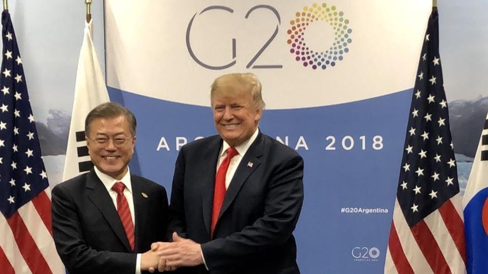 USPresident DonaldTrump and South Korean President Moon Jae-in