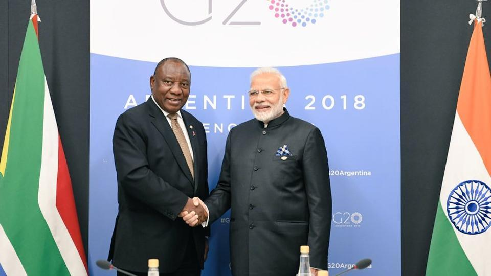 Narendra Modi,Republic Day parade 2019,Cyril Ramaphosa