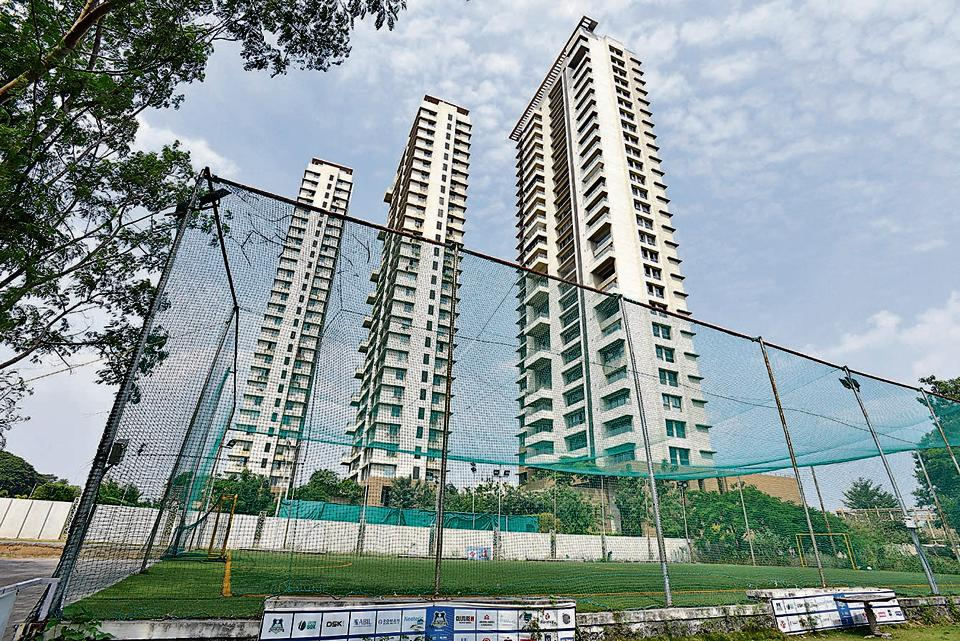 The playground on the Castel Royale premises located of Aundh road.