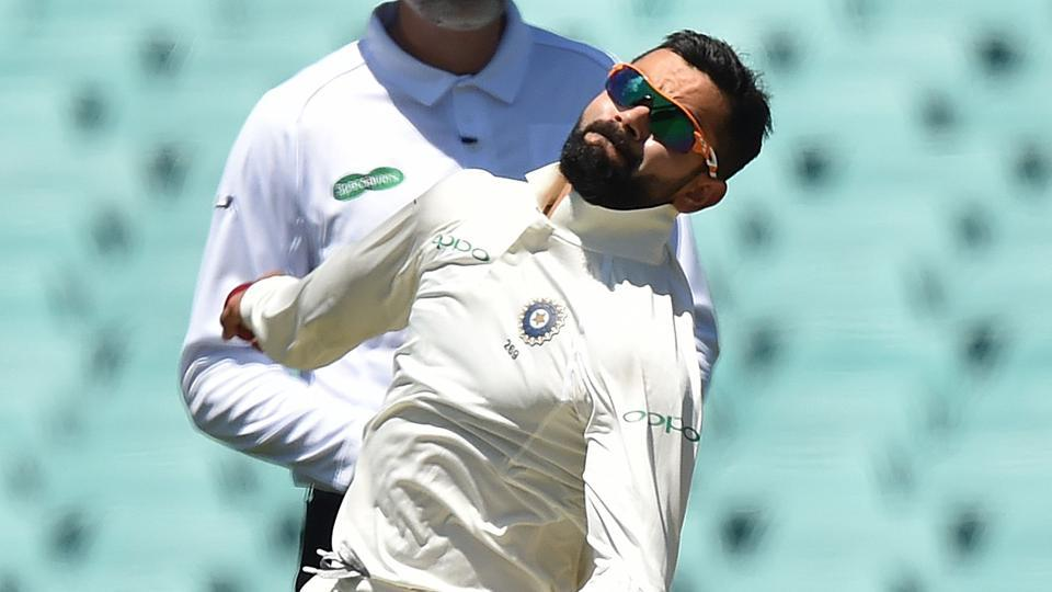 India's captain Virat Kohli bowls to Australia's Harry Nielsen on the fourth day of the tour match against Cricket Australia XI at the SCG in Sydney.
