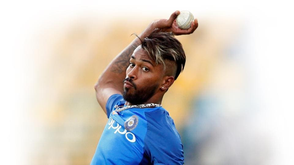 File image of India all-rounder Hardik Pandya in action during a training session.